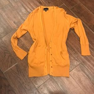 Fall yellow/gold cardigan